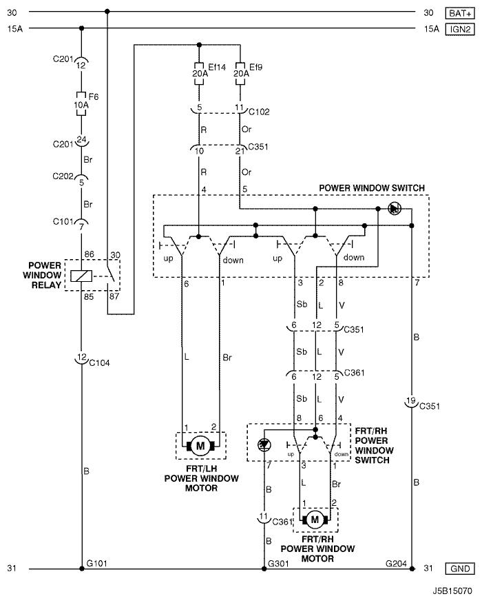 Нужно взять схемку подключения при 2-х передних стеклоподъёмниках и найти соответствия между проводами со схемы 4-х...