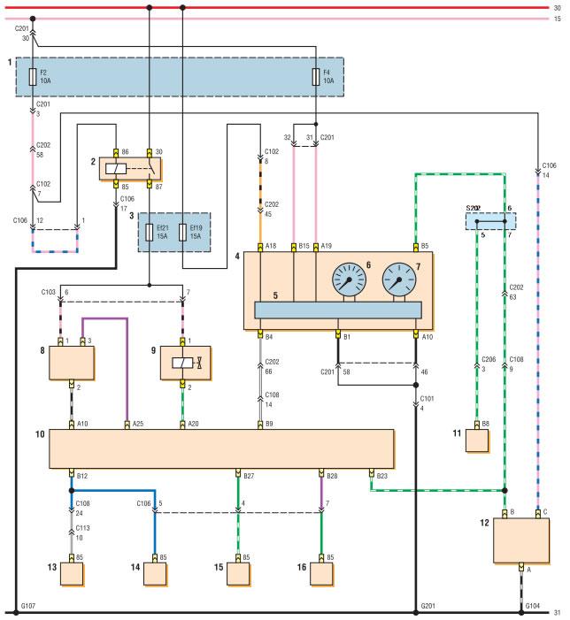 Схема системы кондиционирования шевроле авео