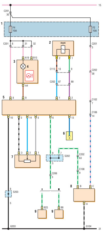 Lacetti схема с202 - Описание