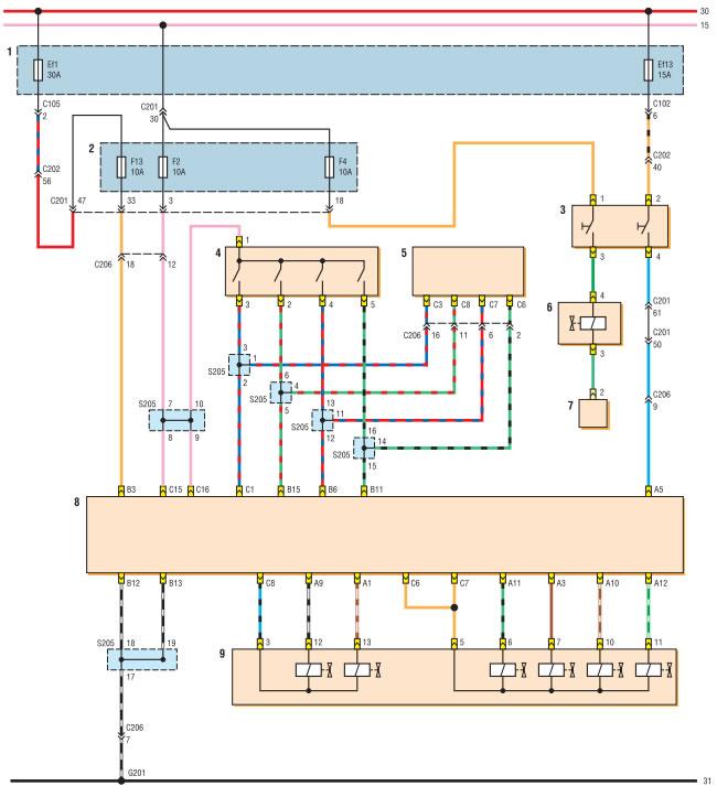 Mr 140 эбу схема управления